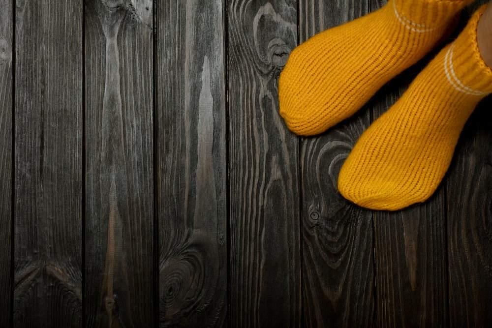 Afstoffen op je sokken